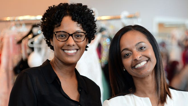 Sisters Angelica Friend, left, and Bobbi Friend-Buchmyer, owners of Twice Upscale Resale in West York. Wednesday, March 29, 2017. The John A. Pavoncello photo