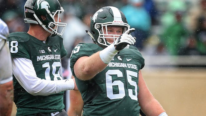Michigan State center Brian Allen has been named to the Rimington Award watch list, handed out to the nation's best center.