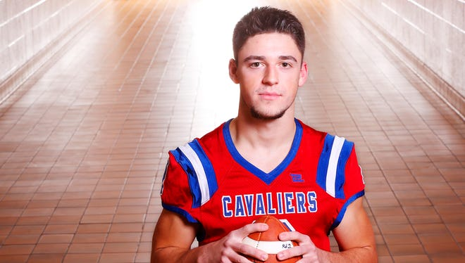 Dalton Justice of Tri-County High School is the  2017 Journal & Courier Small School Offensive Player of the Year for football.