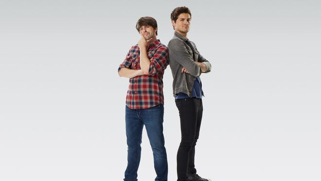 YouTube stars Ian Hecox and Anthony Padilla star in their first feature film 'Smosh: the Movie.'