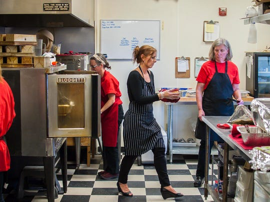 Luiza Bloomberg, center, of Luiza's Homemade With Love