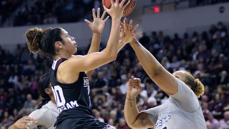 Mississippi State guard Dominique Dillingham shoots