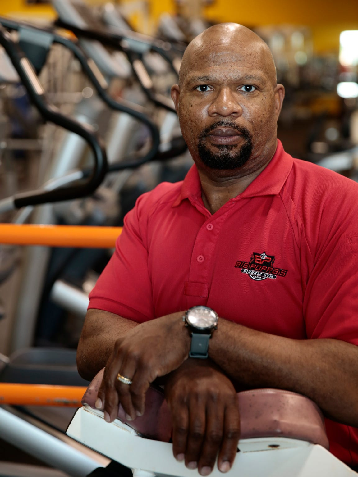 Joseph Prejean at Big Poppa's Fitness Gym, his Lafayette