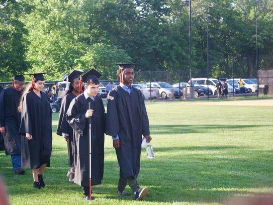 Daniel Parker at his graduation from Croton-Harmon