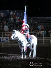Oralee Madison, from Crofton, Kentucky, will perform at the Lone Star Champion Rodeo in Salisbury on Jan. 19 and Jan. 20, 2018.