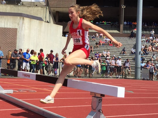 North Rockland's Alex Harris won the steeplechase during