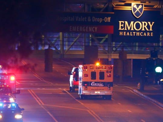 Emory University Hospital in Atlanta treated several