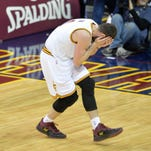 Cleveland Cavaliers forward Kevin Love suffered an eye injury in a 113-93 win over the Miami Heat Wednesday.