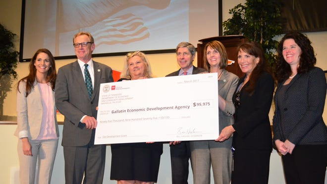 The City of Gallatin received a site development grant for the Gallatin Industrial Center.