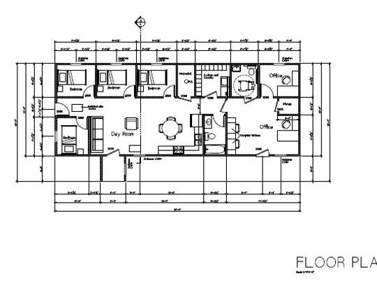 Floor plans for the addition to the QRS building in