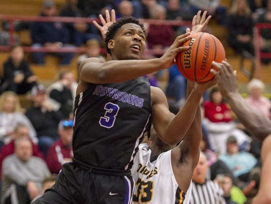 Brownsburg junior Cameron Alford (3) leads a talented
