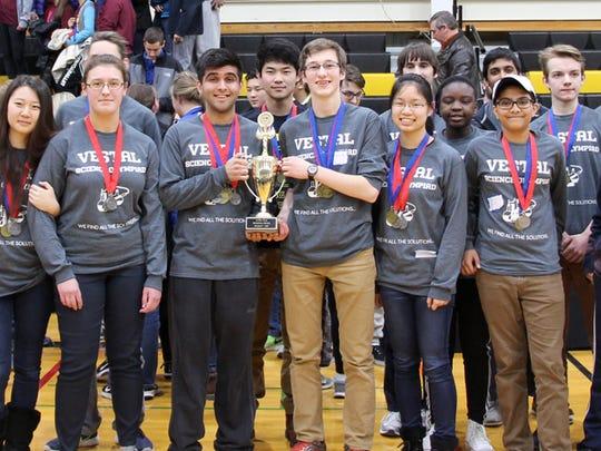 Vestal High School's Science Olympiad team.