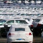 (FILES) This  September 25, 2015 file photo shows cars parked at the logistics park of German auto giant Volkswagen in Villers-Cotterets. The German transport authorities plan to order auto giant Volkswagen to recall 2.4 million diesel vehicles in Germany that are equipped with pollution-cheating software, a spokesman told AFP on October 15, 2015.  AFP PHOTO / FRANCOIS NASCIMBENIFRANCOIS NASCIMBENI/AFP/Getty Images ORG XMIT: 452 ORIG FILE ID: 545365254