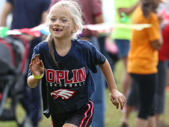 Kinley Larsen, 5, is seen here during the Got Mud?