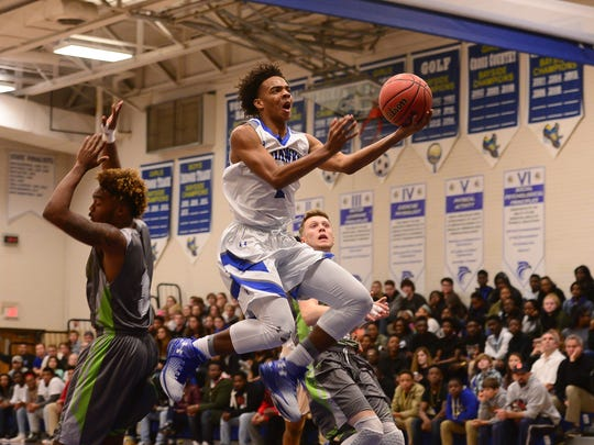Stephen Decatur's Kevon Voyles with the layup against Atholton High School on Tuesday, Feb. 28th.