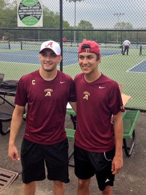 Karan Narula and Jake Bhangdia won the first Section 1 doubles championship in Arlington High School history on Wednesday.