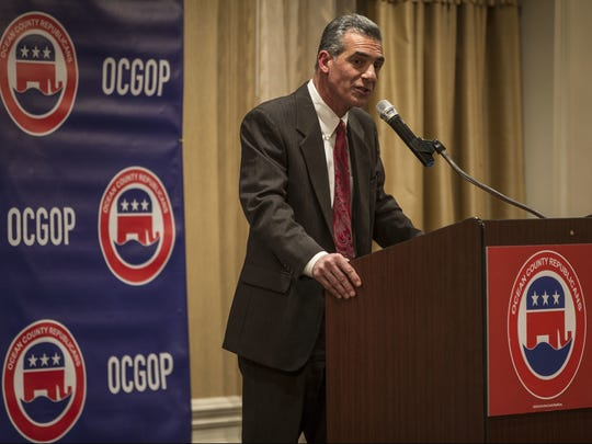 State Assemblyman Jack Ciattarelli, R-Somerset, addresses the Ocean County Republican Committee at the Clarion Hotel and Conference Center in Toms River on Tuesday, Feb. 21, 2017.