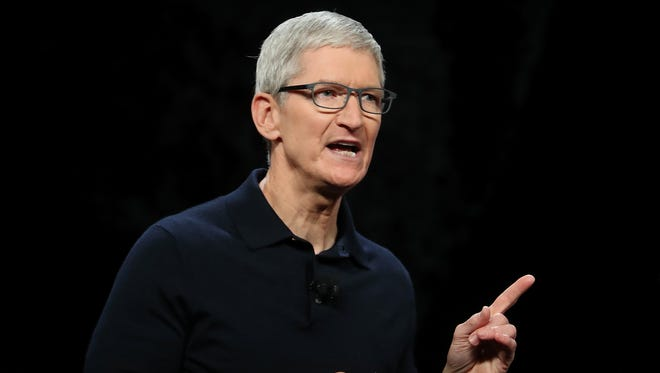Apple CEO Tim Cook speaks during the 2018 Apple Worldwide Developer Conference at the San Jose Convention Center on June 4, 2018 in San Jose, Calif. The WWDC runs through June 8.