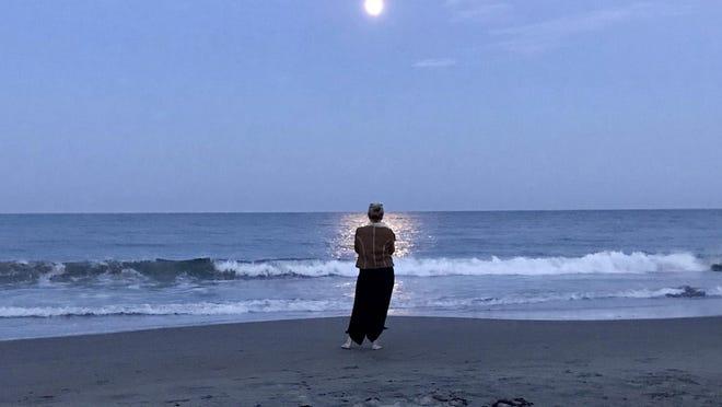 Deb Walsh at Scarborough Beach, Aug. 1.