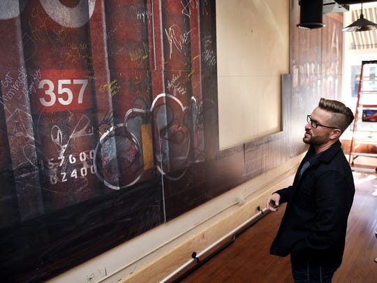 """James Frazier's new comic store and offices will feature artwork of a train car that was used in the show  """"The Walking Dead."""""""