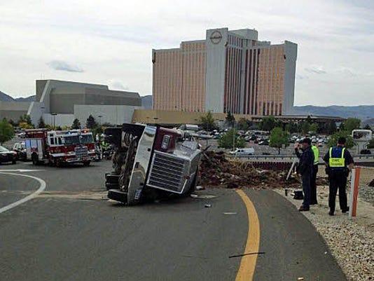 NHP truck rollover