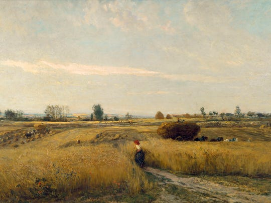 Charles François Daubigny, The Harvest, 1851, oil on canvas. Musée d'Orsay, Paris