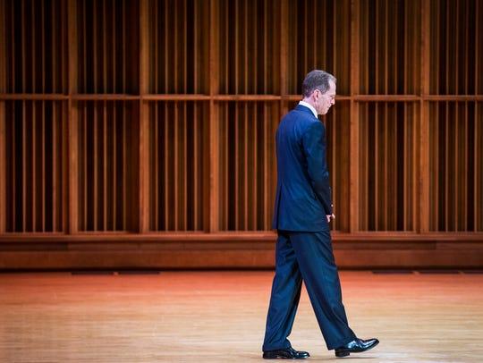 Ball State's seventeenth president, Geoffrey Mearns,