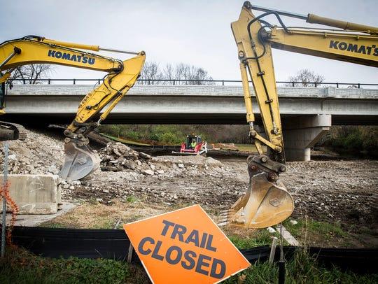 Construction continues on the Tillotson Avenue bridge