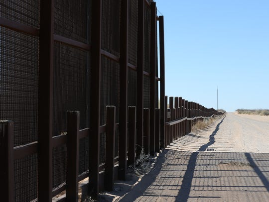 The border wall will continue west of the Santa Teresa