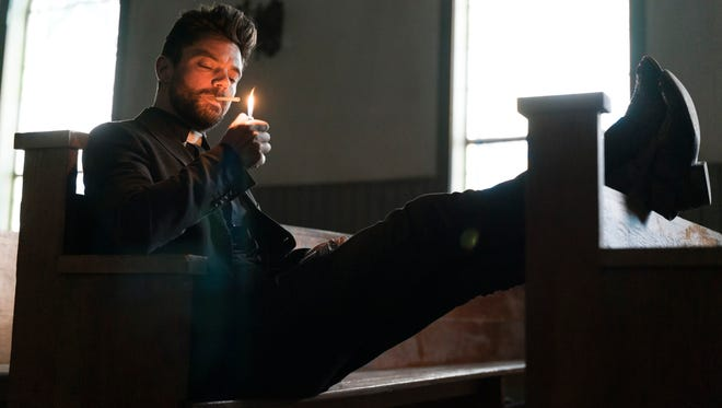 Dominic Cooper stars as a small-town Texas preacher with supernatural abilities in AMC's gritty 'Preacher.'