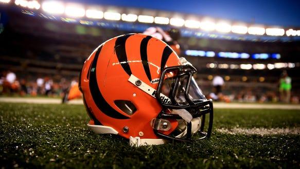 A Bengals helmet