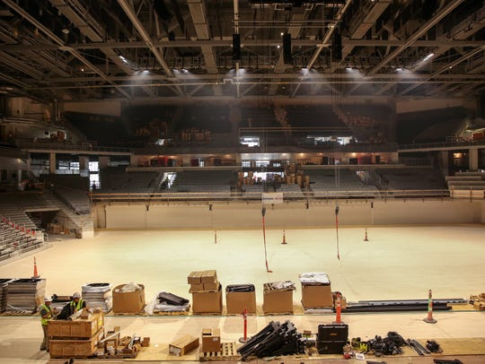 Fifth Third Arena during its $87 million renovation