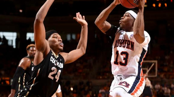Auburn coach Bruce Pearl announced on May 6, 2016 that guard Tahj Shamsid-Deen (13) will not return to the Tigers men's basketball program.