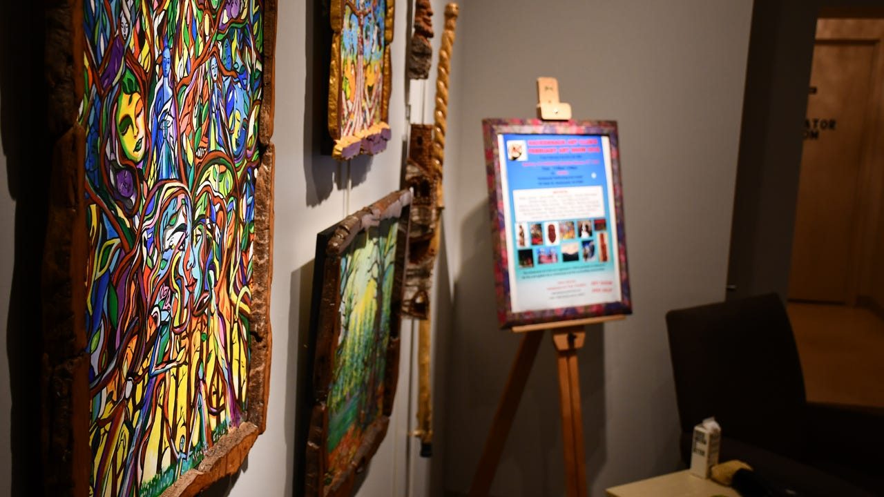Art by members of the Hackensack Art Club, one of the oldest artist groups in North Jersey, is on display at an art show at the new Hackensack Performing Arts Center (HACPAC)  on Saturday, Feb. 10, 2018.