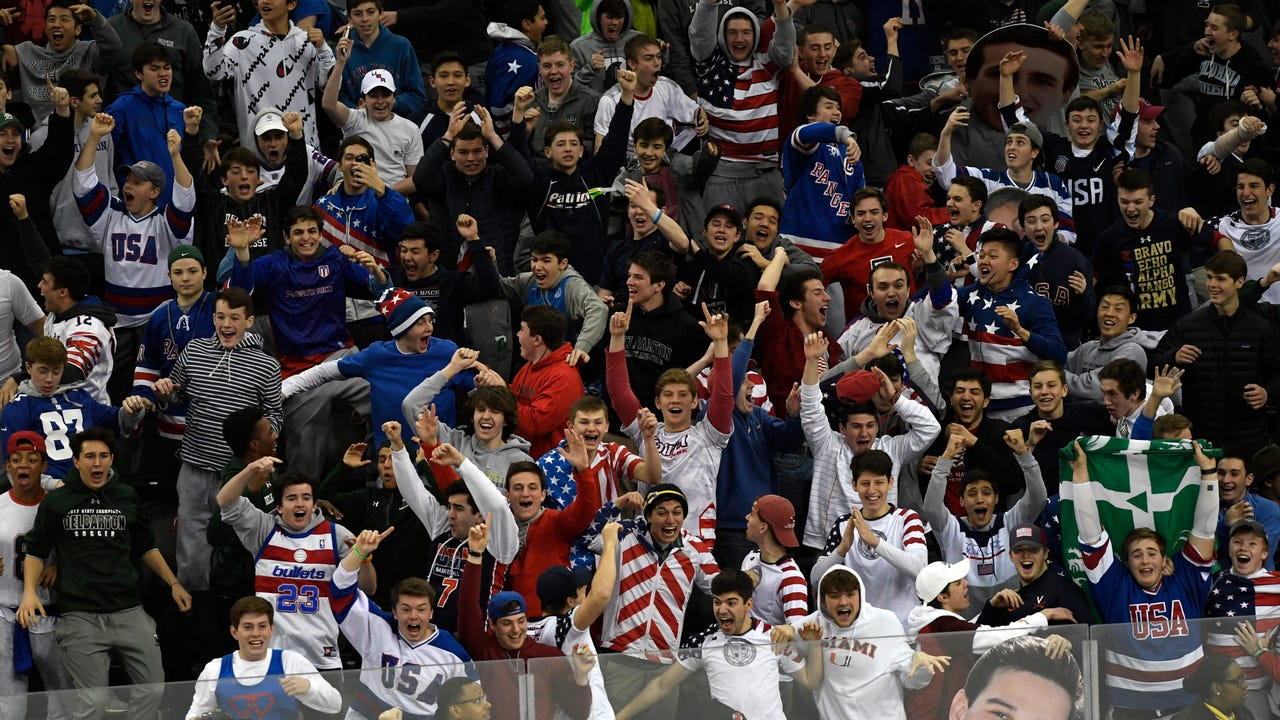 Chatham and Northern Highlands fans joined together to cheer the Highlanders to a NJSIAA championship against Randolph.