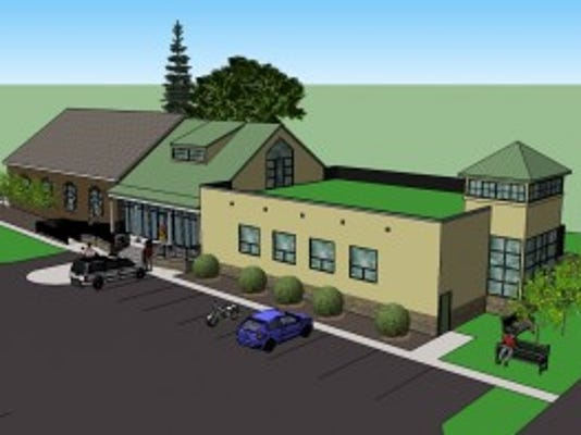 An artist's rendering of the proposed expansion and renovation. (Courtesy of Shaffer Design Associates)