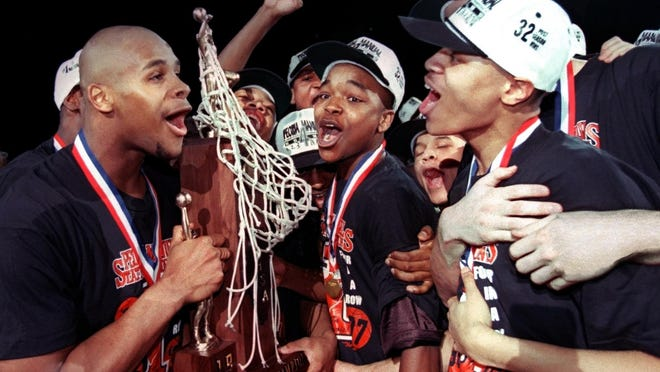 Manual closed out its historic four-peat at the 1997 IHSA boys basketball state finals in Peoria.