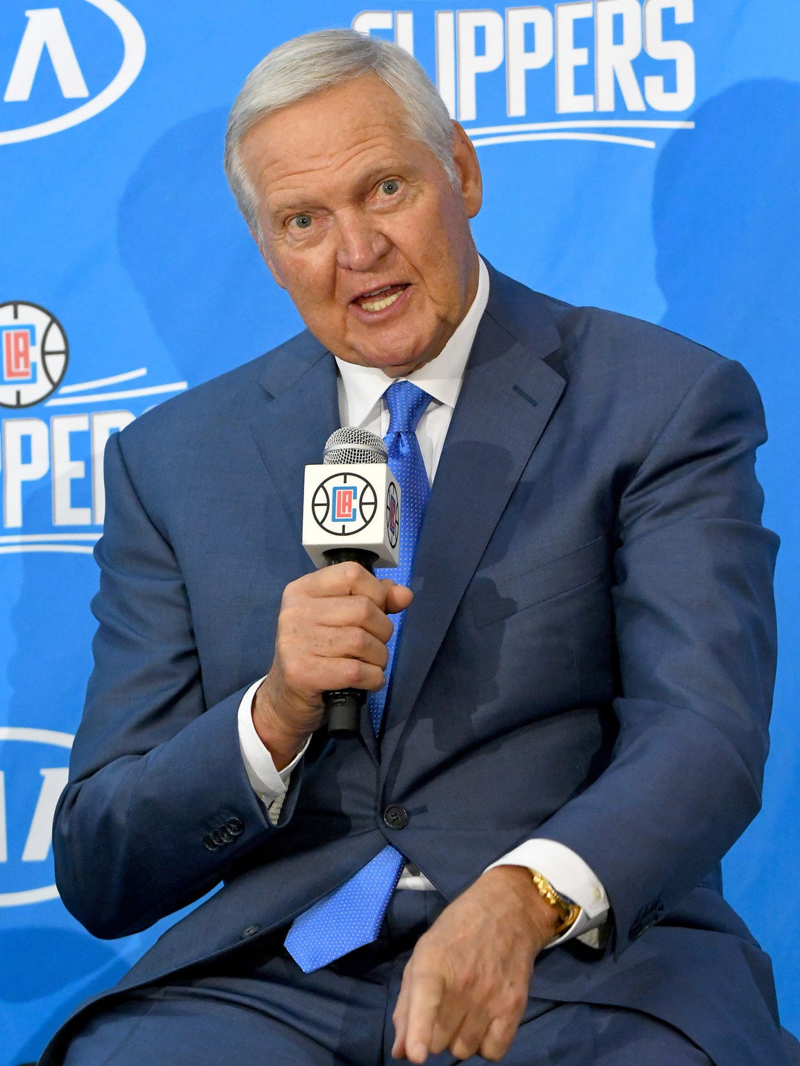 Hall of Famer Jerry West, a highly-successful executive