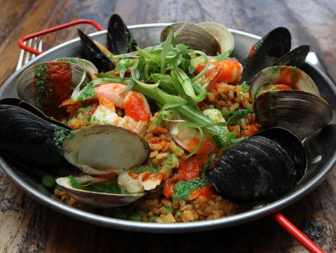 Seafood paella at The Arlington in Ship Bottom.