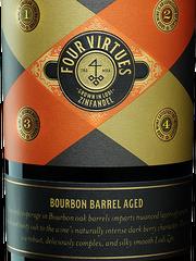 Four Virtues Bourbon Barrel Aged Zinfandel pairs well