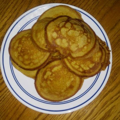 Pumpkin pancakes will change up your standard breakfast with a delightful new twist and extra vitamins.