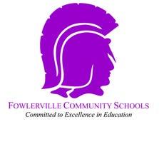 Fowlerville High School's Trojan sports logo.