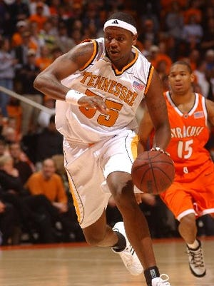 Ron Slay ranks 15th on Tennessee's career scoring chart.