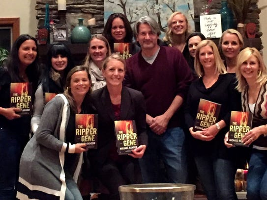 Author Michael Ransom with some of his fans.