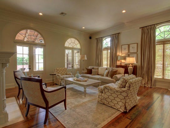The living room is stylish and elegant, yet comfortable