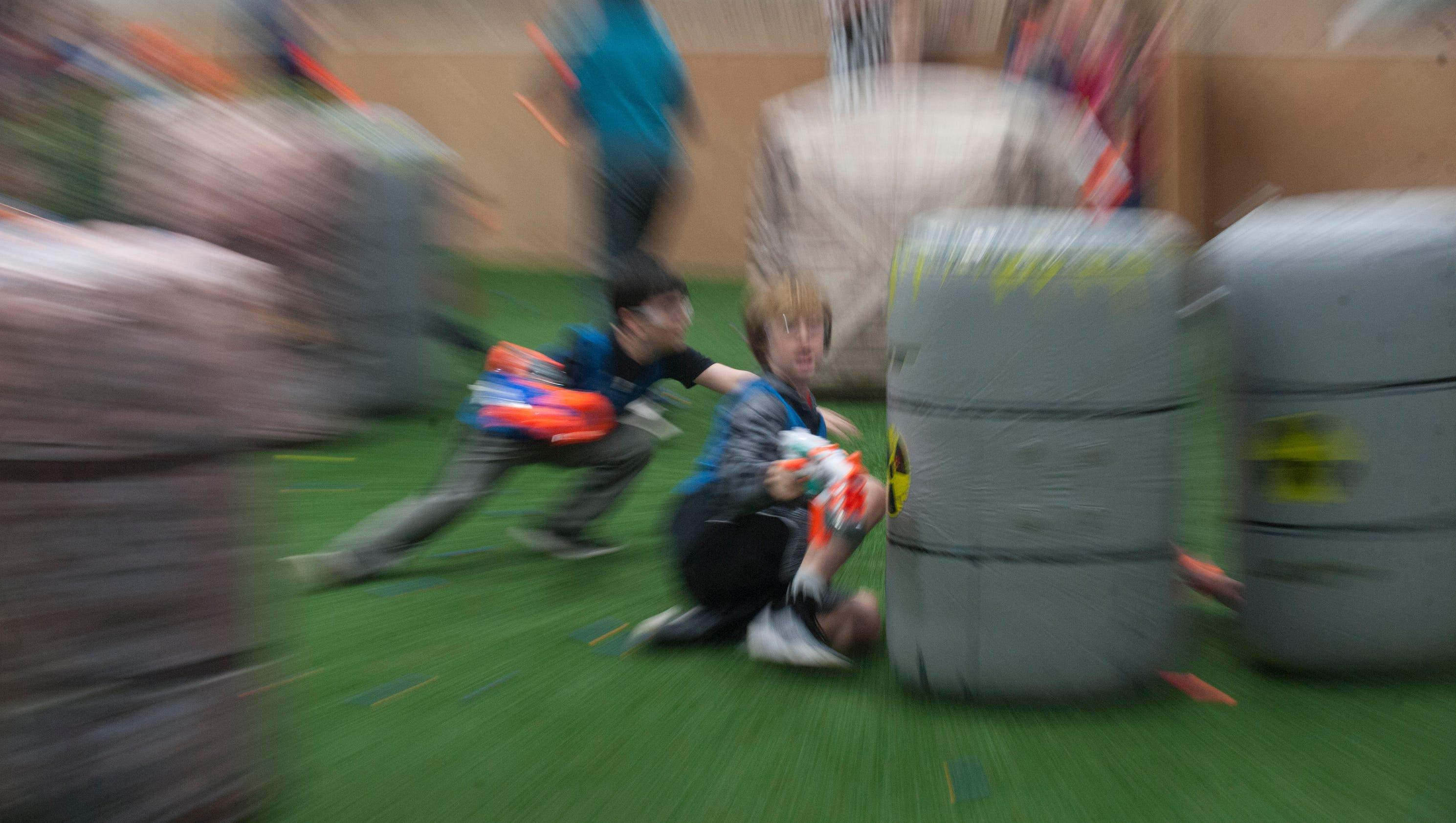 'Get into it, get fun:' Kids battle on Nerf turf