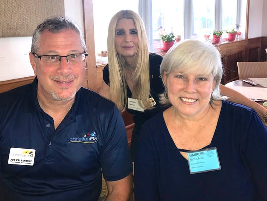 Joe Pellegrino, left, Elizabeth Moshier and Maureen