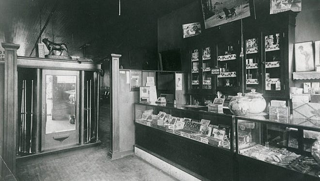 Jim Fitzgibbon's Cigar and Candy store in Menasha is shown in this undated photograph.