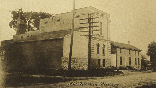 The Neenah Brewery, 129 Lake St., was owned by Adam Ehrgott. The brewery, shown here circa 1890s, was in business from the late 1870s until 1902. The brewery averaged about 400 barrels per year.