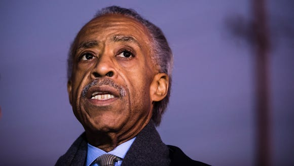 The Rev. Al Sharpton during a news conference after